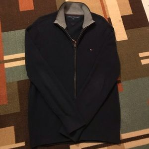 NWOT Tommy Hilfiger Knitted Full-Zip Jacket (Navy)